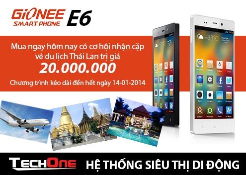 Mua Gionee nhan co hoi du lich Thai Lan mien phi hinh anh 1