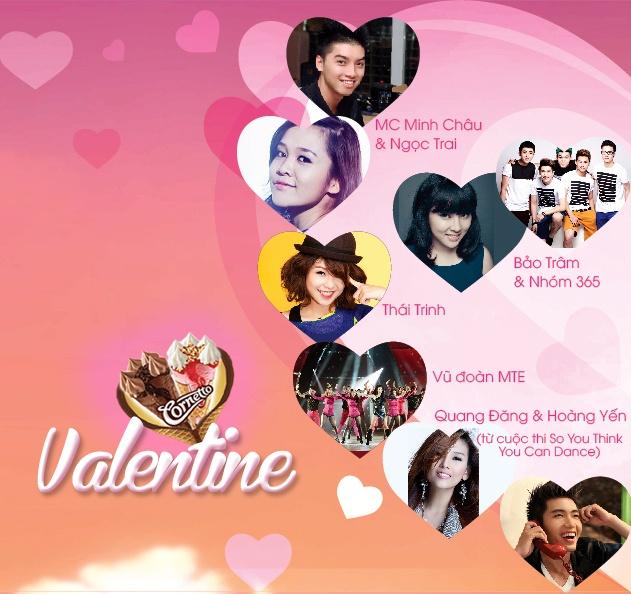 'Nang do tinh yeu' cung dem hoi Valentine dieu ky hinh anh