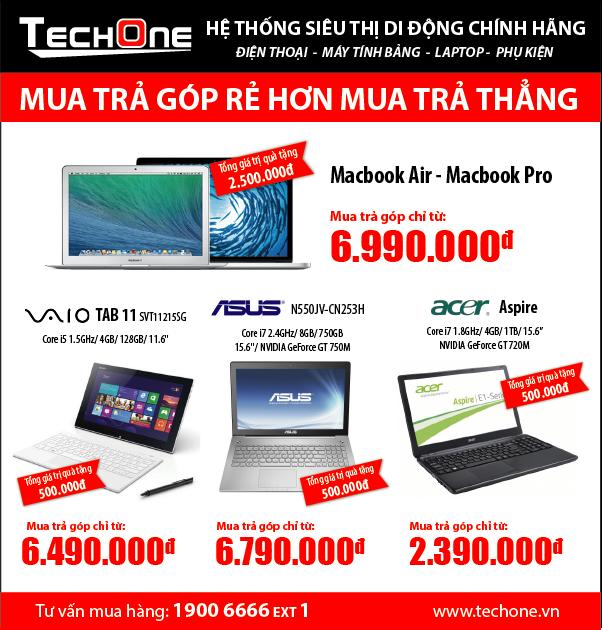 Tra gop dien thoai, may tinh bang, laptop lai suat 0 dong hinh anh 3