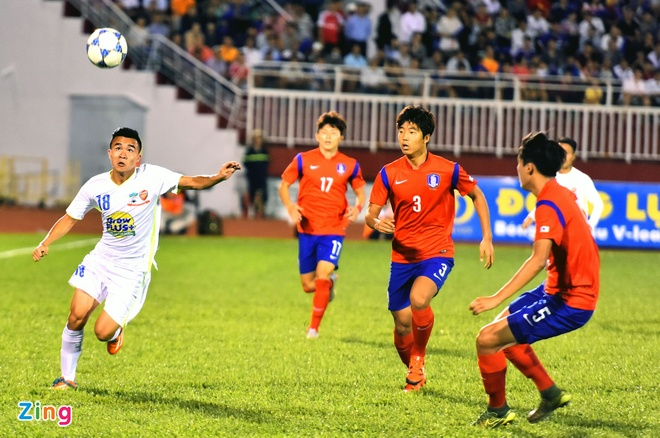 Cong Phuong va dong doi be tac trong vong vay U19 Han Quoc hinh anh 1