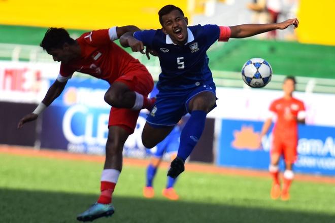 U21 Thai Lan hoa U21 Singapore tran ra quan U21 quoc te hinh anh