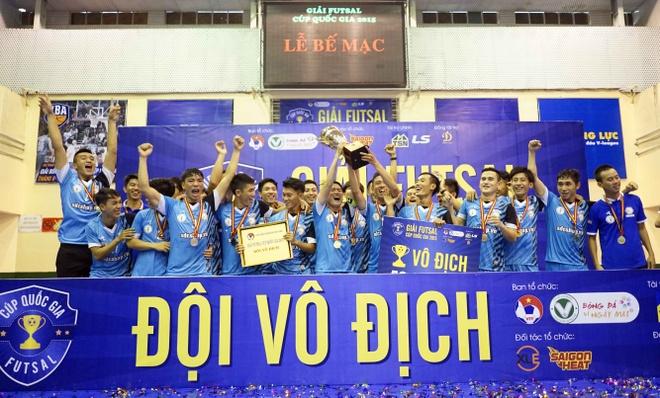 Loai nhieu doi thu manh, HPN vo dich giai Futsal Cup QG hinh anh