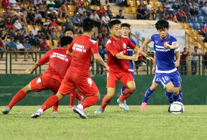 Cong Phuong kien tao, U23 VN hoa DKVD V.League hinh anh