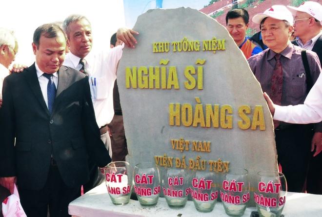 Dat vien da dau tien xay khu tuong niem Nghia si Hoang Sa hinh anh