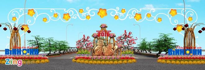 Duong hoa Tet chu quyen bien dao o Binh Dinh hinh anh 5