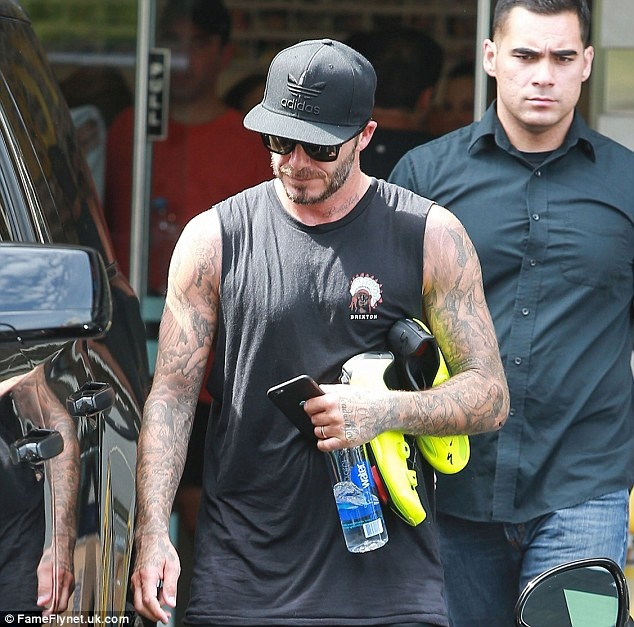 David Beckham thuc hien bai tap kho cua Floyd Mayweather hinh anh