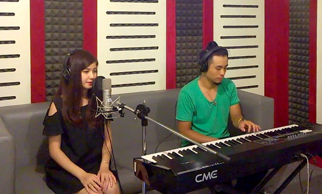 Hot girl An Japan cover 'Lost stars' cua Maroon 5 hinh anh
