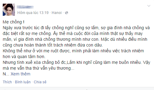 Nang dau sinh nam 1993 gui tam thu cam on me chong hinh anh 1