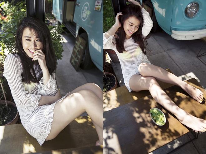 Hot girl Ngoc Thao don he voi trang phuc nang dong hinh anh 4