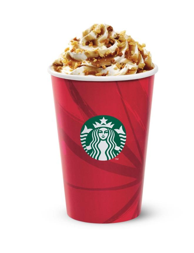 Starbucks tung 'coc do' chao giang sinh hinh anh