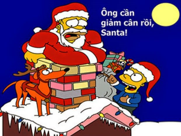 Anh che hai huoc ve ong gia Noel hinh anh