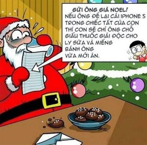 Anh che hai huoc ve ong gia Noel hinh anh 3 Đến Nobita cũng biết chơi khăm ông lão.