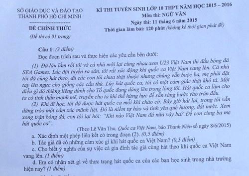 U23 Viet Nam tai SEA Games vao de thi lop 10 hinh anh 1