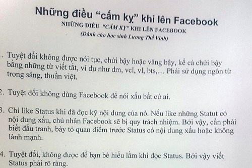 Nhung luu y khi len Facebook giup hoc sinh tranh cam bay hinh anh