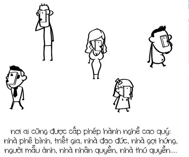 Tranh ve su that ve Facebook cua nhom Le Bich hinh anh 3
