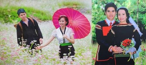 Cuoi, tu Tay Bac den Tay Nguyen hinh anh 1 Ảnh cưới của 2 đôi dâu rể ở Tây Bắc, Tây Nguyên.