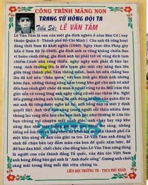 Truong hoc lay anh tu tu minh hoa cho anh hung Le Van Tam hinh anh 2
