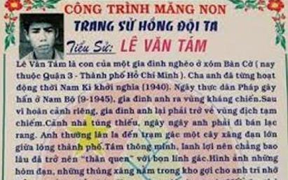 Truong hoc lay anh tu tu minh hoa cho anh hung Le Van Tam hinh anh