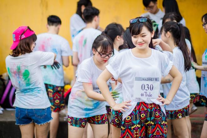 Anh ky yeu mang am huong 'Color me run' cua teen Yen Bai hinh anh 5