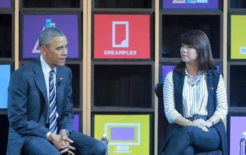 Ba ban tre Viet tro chuyen voi Tong thong Obama la ai? hinh anh