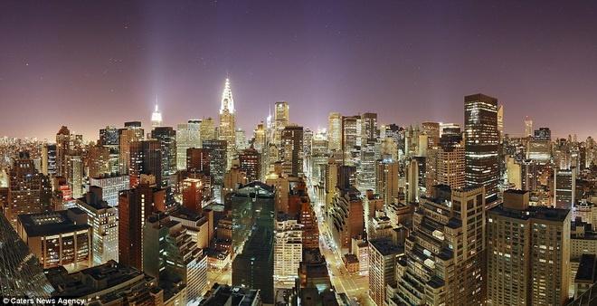 Một góc thành phố Manhattan, Mỹ.