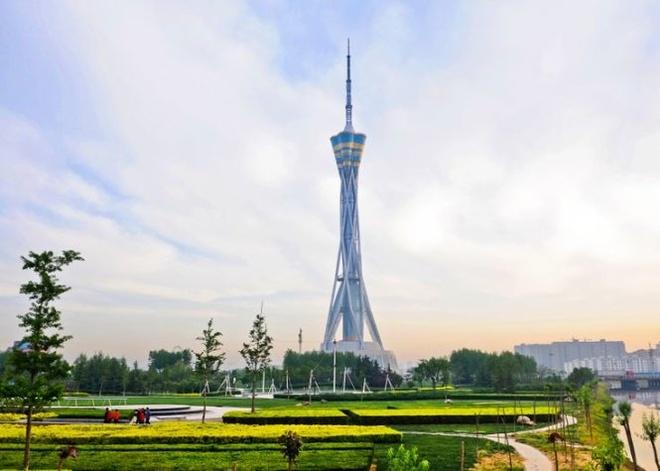 10 thap truyen hinh cao nhat the gioi hinh anh 9 Tháp Zhongyuan, Trịnh Châu, Trung Quốc cao 388m, khánh thành năm 2011 - Ảnh: pinterest.com.