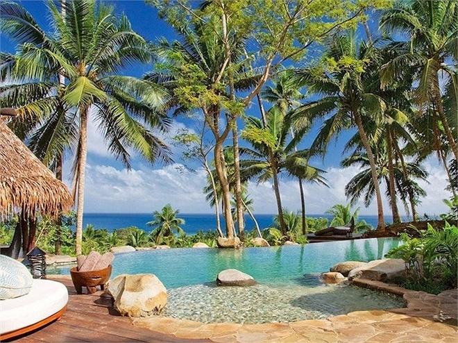 Nhung phong khach san khong duoi 800 trieu/dem hinh anh 5 Hilltop Estate ở Laucala Island Resort, Fiji: Khách được tắm ở bãi biển riêng, dịch vụ quản gia 24 giờ/ngày, sân golf 72 lỗ. Giá 40.000/đêm.