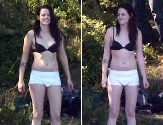 Kristen Stewart gap rac roi voi chiec quan boi 'phan chu' hinh anh