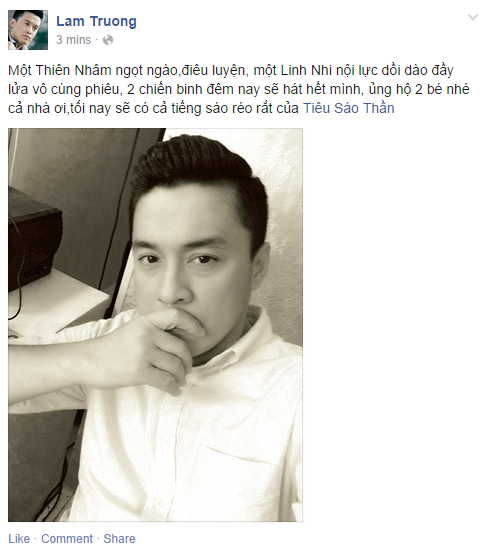 Thien Nhan manh dan nam tay hot boy mat hi tren san khau hinh anh 4
