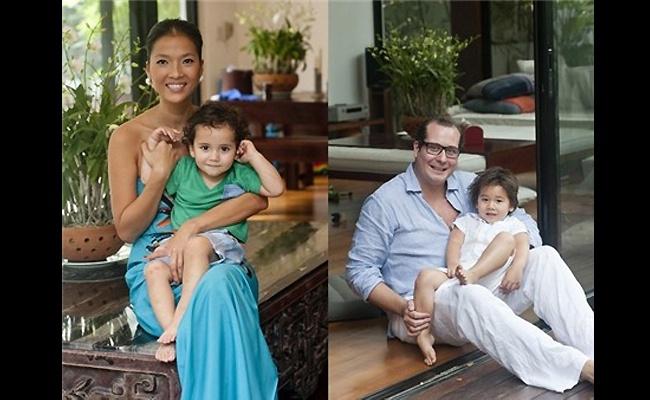 7 mau Viet xinh dep tim 'ben do' ben chong ngoai hinh anh 9 May mắn hơn Phi Thanh Vân, siêu mẫu Bằng Lăng có cuộc sống gia đình khá êm ả.   Năm 2009, cô nhận lời cầu hôn và lên xe hoa với người chồng Đức là Claas Schaberg.