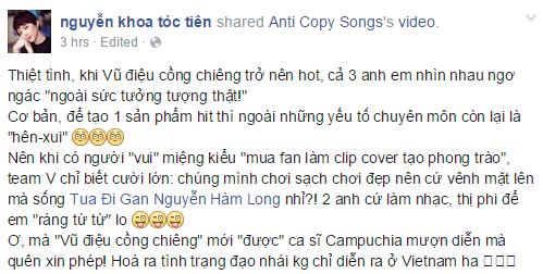 Ca si Campuchia nhai vu dao cong chieng cua Toc Tien hinh anh 3