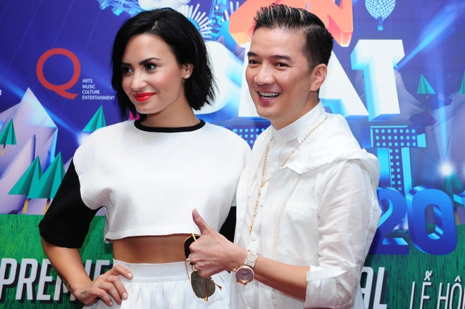 Mr. Dam chao don Demi Lovato lan dau den Viet Nam hinh anh