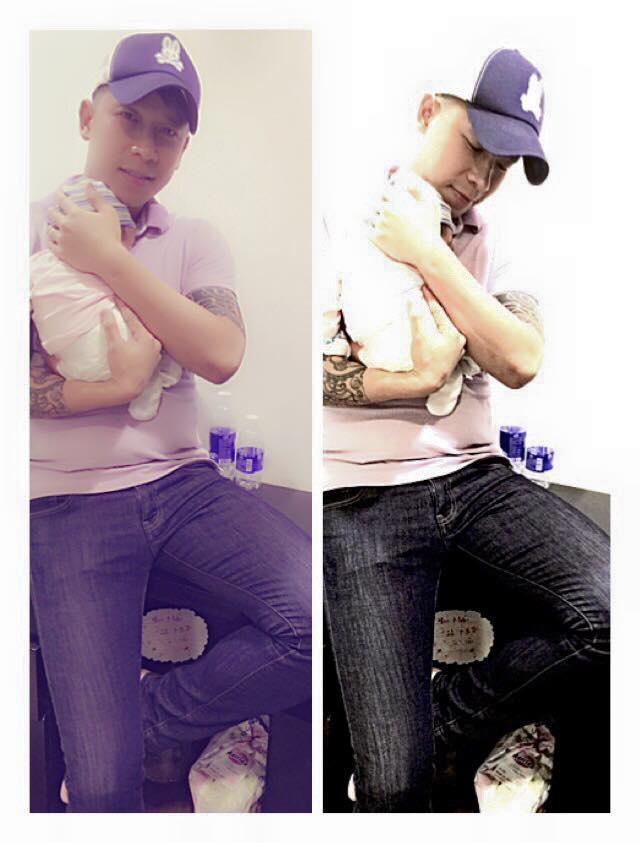 Le Hoang (The Men) bay show khi ban gai vua sinh con hinh anh 3 Trước đó vài tiếng, thành viên cũ nhóm B.O.M chia sẻ trên trang cá nhân hình ảnh bế con trai cùng lời chào tạm biệt:
