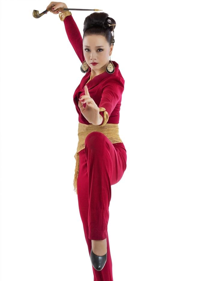 Diem My 9X me hot boy Linh Son trong 'Kungfu pho' hinh anh 4