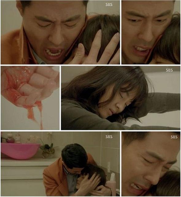 4 my nhan Han tu tu khong thanh tren man anh hinh anh 3 Oh Young cắt cổ tay tự tử trong bồn tắm.