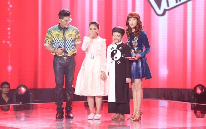 Tai tu nhi The Thanh bi loai du duoc khen xuat sac hinh anh 3 Thế Thanh và Khánh Linh đều bật khóc khi nghe công bố kết quả.