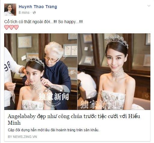 Sao Viet nguong mo dam cuoi cua Huynh Hieu Minh - Angelababy hinh anh