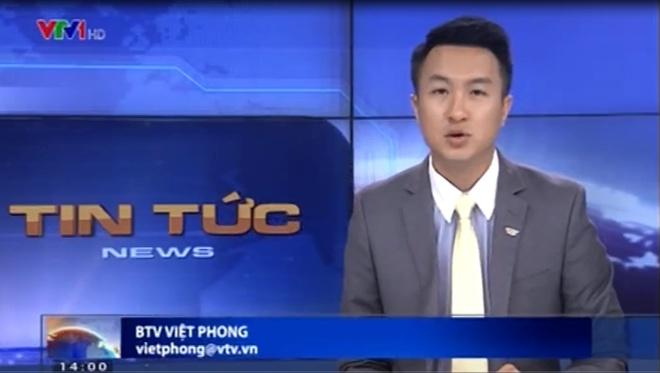 VTV co MC nam mien Nam dau tien hinh anh 1 BTV Việt Phong dẫn chương trình thời sự của Đài truyền hình Quốc gia.