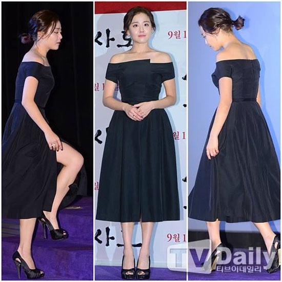 Hoc my nhan Han mac gam den sang chanh ma khong bi du hinh anh 10 Moon Geun Young gây ấn tượng với diện mạo quyến rũ  trong bộ váy đen khoe vai trần.