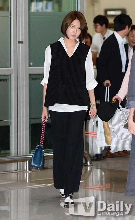 Hoc my nhan Han mac gam den sang chanh ma khong bi du hinh anh 6 Kiểu mix layer như Sooyoung là style lý tưởng cho thân hình