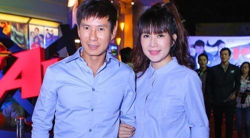Ly Hai di xem phim cung vo sau tai nan ran xuong suon hinh anh