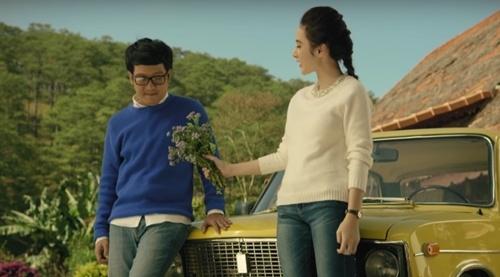 Truong Giang tinh cam voi Phuong Trinh trong MV nhac phim hinh anh