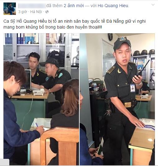 Nghi van Ho Quang Hieu mang bom o san bay la tro dua cua fan hinh anh 1