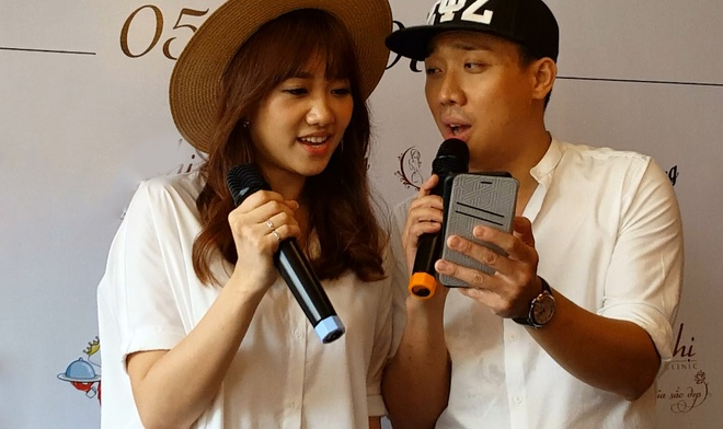 Hari Won dam duoi song ca cung Tran Thanh hinh anh