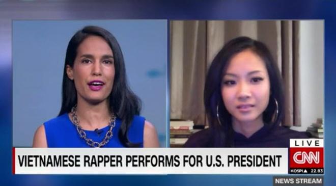 Phong vien CNN de nghi Suboi cham diem man beatbox cua Obama hinh anh 1