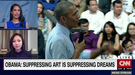Phong vien CNN de nghi Suboi cham diem man beatbox cua Obama hinh anh