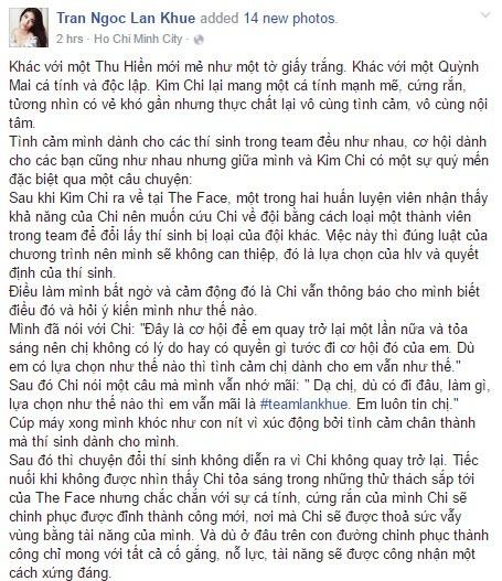 Lan Khue: 'Khoc vi qua buc xuc ve ket qua The Face' hinh anh 4