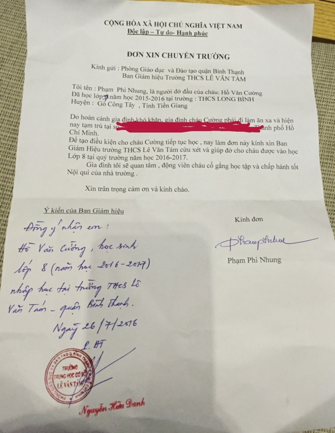 Ho Van Cuong len hoc o TP HCM hinh anh 1