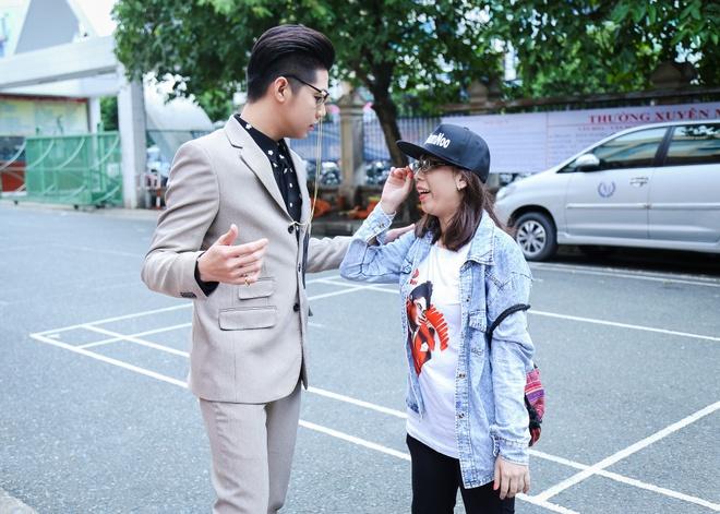 Noo Phuoc Thinh, Dong Nhi dua nghich khi quay The Voice Kids hinh anh 2