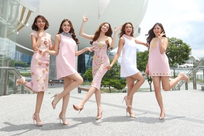 Ho Ngoc Ha dan hoc tro The Face ra mat tai Singapore hinh anh 7